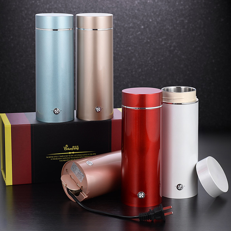 Heating Cup Car Boiling Mug Stainless Steel Tea Pot Coffee Milk Boiling Electric Kettle Boiler Vehicle Thermos high quality electric kettle double wall insulation quick heating digital electric thermos water boiler home appliances for tea