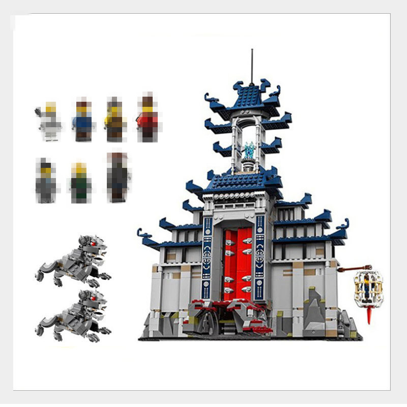1501pcs lepin 06058 Movie Temple of The Ultimate Weapon Building Blocks bricks DIY Toys Boy Game Team Castle Compatible 70617 hot mobile game movie angried king pig castle building block crazy birds minifigures bricks compatible legoes 75826 toys for kid
