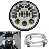 Set 7inch Harley Motorcycle LED Headlight DRL with turning light Parking lamp Projector With 7 Mounting Bracket for Harley Moto