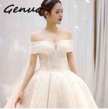 Genuo New full dress robe Party Vestidos Female Off Shoulder Slash Neck Sequin Dress 2019 Summer Backless Sexy Elegant Dress2