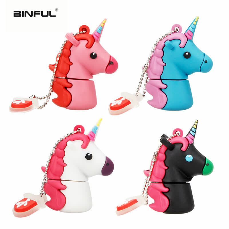 usb stick lovely flash drive Unicorn 4GB 8GB 16GB 32GB 64GB 128GB disk cartoon free custom logo & delivery