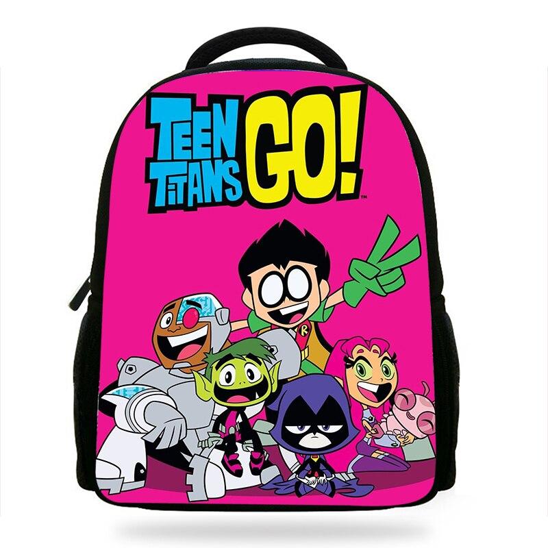 14 Zoll Beliebte Jungen Und Mädchen Teen Titans Gehen Cartoon Druck Kinder Rucksack Für Kinder Schule Nette Charakter Buch Taschen GroßE Sorten