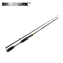 SEASHARK Carbon 2 Section Lure Fishing Rod 1.8M  C.W 10-30G Lure w3/8-2 oz Line W 12-30lb H Power Baitcasting Fishing Rod