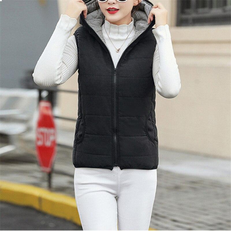 o] Zipper Hooded Vest Women Winter 2018 Fashion Sleeveless Jacket Femme  Casual Warm Parkas Waistcoat Cotton Open Stitch Vest Coat-in Vests &  Waistcoats from Women's Clothing & Accessories - Winter Jackets Girl