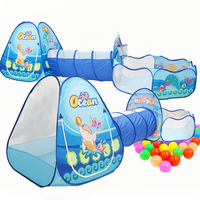Toys Tunnel Tent Ocean Series Cartoon Game Big Space Ball Pits Portable Pool Foldable Children Outdoor Sports Educational Toys