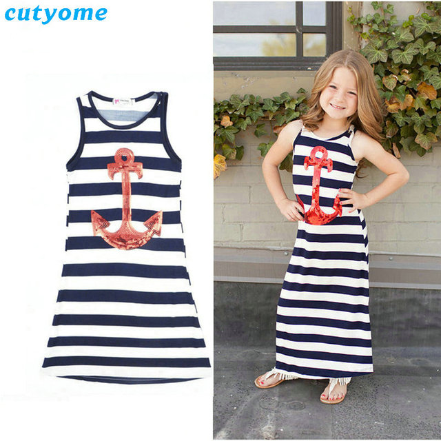 Summer Family Look Striped Dress Anchor Matching Family Clothes Outfits