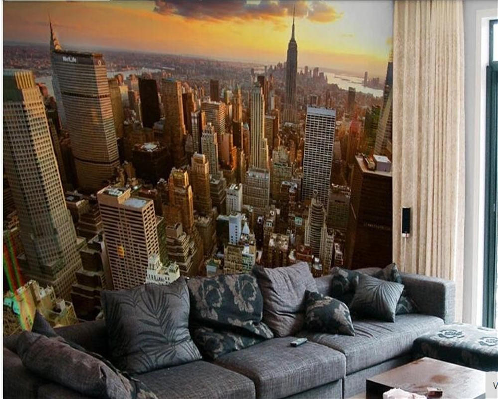 Beibehang Custom 3d Wallpaper Mural Bride Paes City Wall