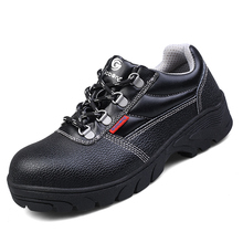 new design men large size casual steel toe cap working safety shoes genuine leather platform worker shoe tooling security boots