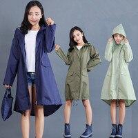 Polyester Regenmantel Frauen Wasserdichte Lange, Licht Frauen Regen Mantel Ponchos Jacke Mit Kapuze Undurchlässig Mujer Capa De Chuva