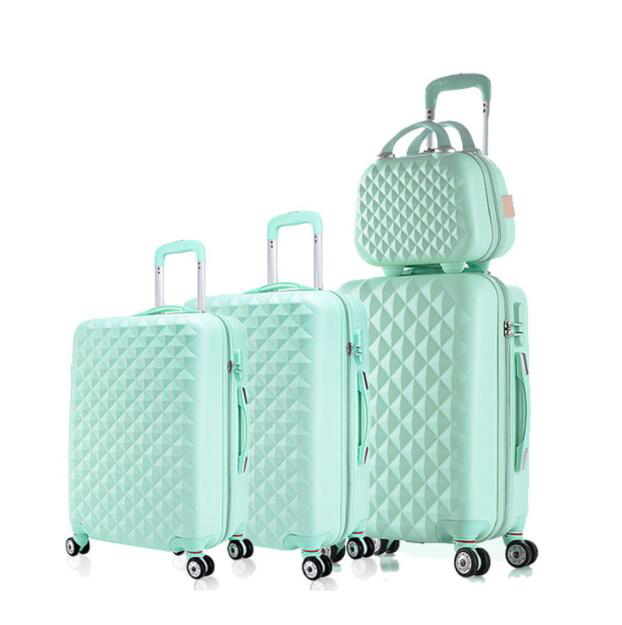 Travel tale spinner Дорожный чемодан из АБС набор жесткие стороны багажная сумка на колесиках комплекты одежды 3 предмета в комплекте - Цвет: green a set