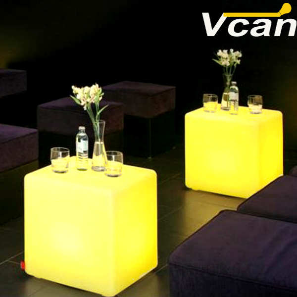50*50*50cm LED wireless Cube Remote Controlled with rechargeable battery Changing lights as bar chairs 50