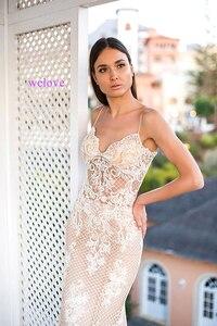 Image 4 - Женское свадебное платье русалка, кружевное платье с длинным шлейфом и аппликацией по индивидуальному заказу, 2020