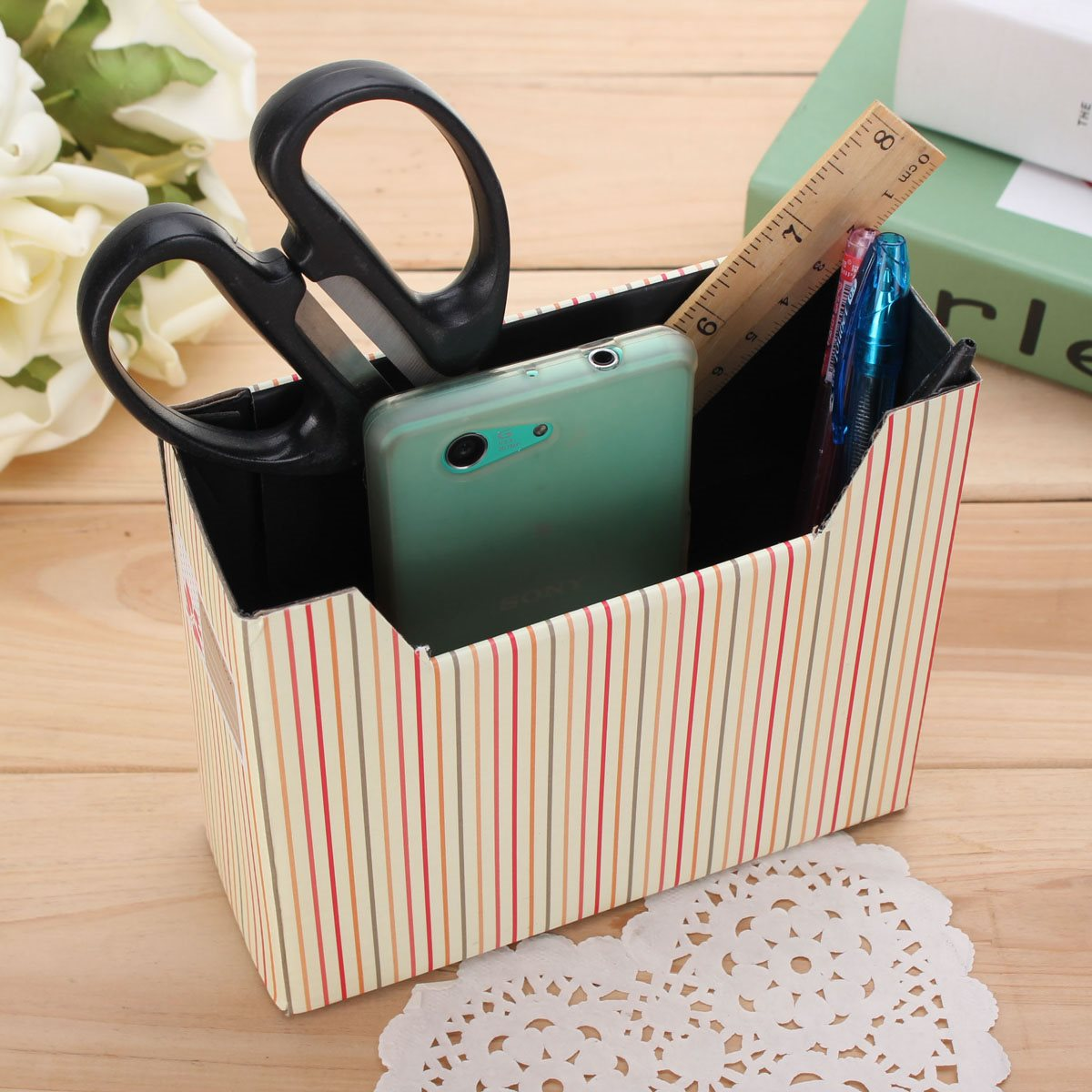 diy decorated storage boxes. Paper Board Storage Box Desk Decor Organizer DIY Hot Makeup Cosmetic Stationery Collection Cute Simple Modern Style-in Boxes \u0026 Bins From Home Diy Decorated A