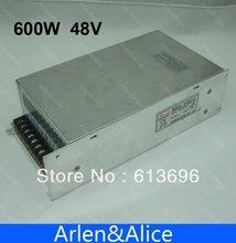 600 W 48 V 12.5A 220 V entrée Unique Sortie alimentation à découpage pour la Bande de lumière LED AC à DC