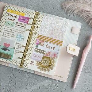 Image 5 - Yiwi Macaron Spirale Notebook In Pelle PU Originale di Office Personale Diario Planner Agenda Organizer Carino 30 millimetri Raccoglitore Ad Anelli A5 A6