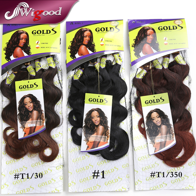 Best Quality Fiber Noble Golds Synthetic Hair Weaves S Exquisite