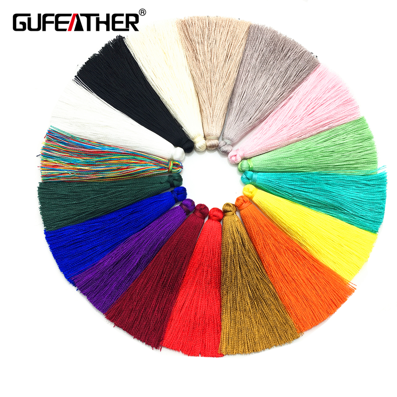 GUFEATHER 6.5CM silk Brush earrings accessories /jewelry accessories/diy jewelry accessories/diy jewelry making