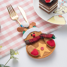 New 3PCS Snowman Santa Cutlery Knife Set Holder Pockets Table Dinner Decor Xmas Ornament