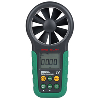 MASTECH MS6252A Handheld Digitale Anemometer Windsnelheid Luchtstroom Tester Air Volume Meten TM