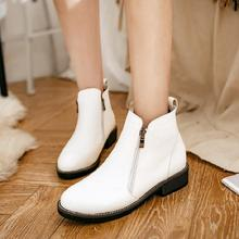 SALCXO ankle boots for women winter boots women autumn women shoes PU low heel fashion boots for woman free shipping &138