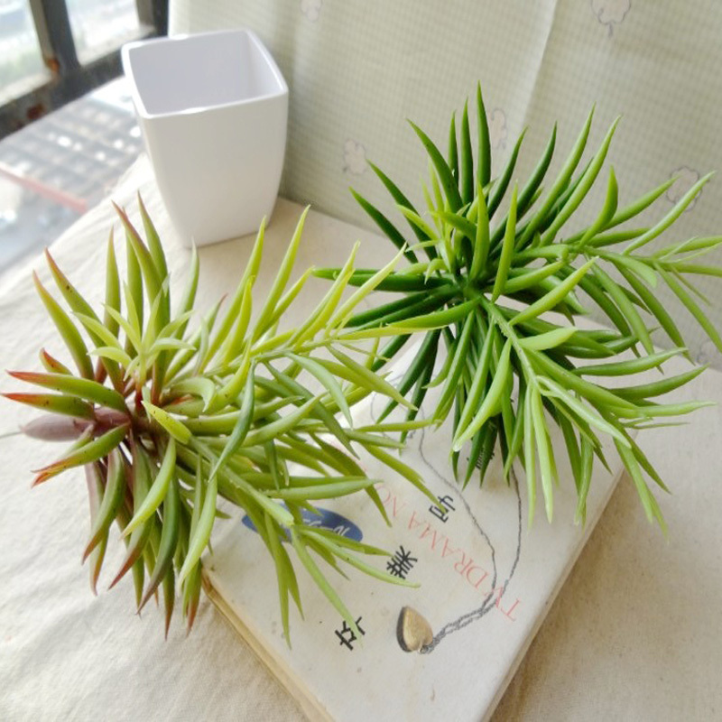 1pcs Free Shipping 24cm Artificial Succulent green Plant DIY Garden Decors