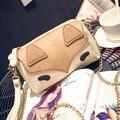 Мара Мечта Милые женские Сумки PU Кожаный Чехол Маленькая Лиса Мультфильм Телефон и деньги Небольшой Мешок Посыльного Женщин мешки