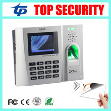Free shipping good quality high speed ZK U260 fingerprint time attendance with MF card reader TCP/IP webserver time attendance