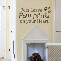 Pets leave paw prints on your heart wall decal 11