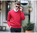2017 Hot Sale Brand New Winter Men Jumpers Pullover Sweater Casual Wools Men's Fashion Sweaters V-Neck Slim  4 Colors Z304