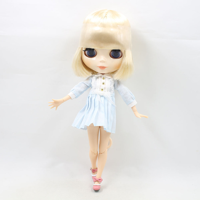 TBL Neo Blythe Doll Blonde White Hair Jointed Body