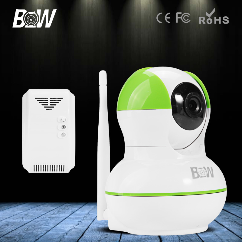 Gas Detector + Wireless IP Camera Wi-Fi Network HD 720P Surveillance WiFi Security Camera PTZ for Android IOS App Control wifi wlan wireless network signal detector keychain