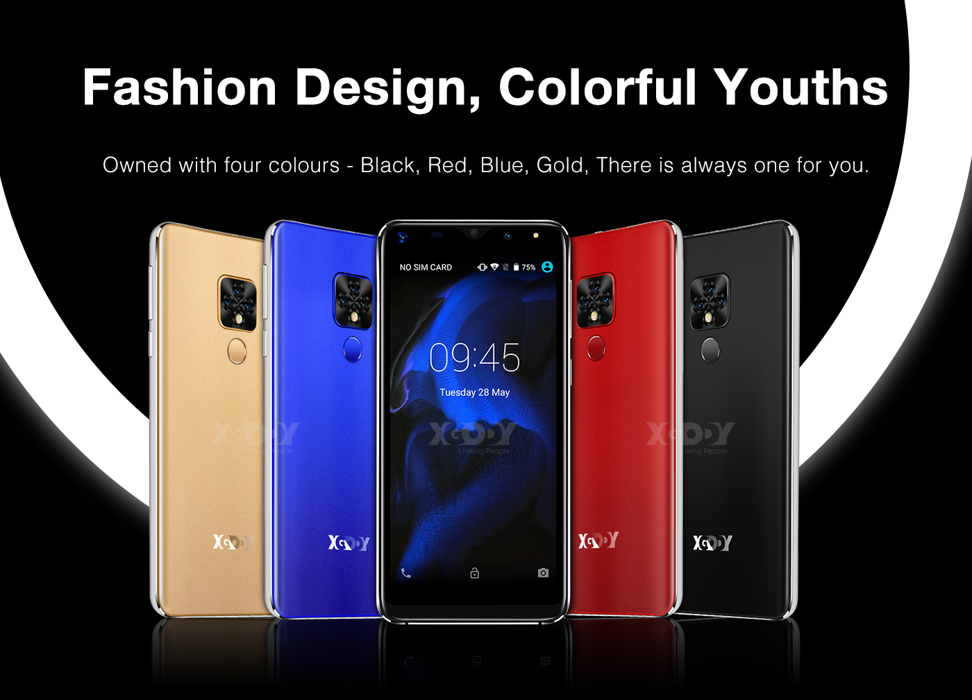 Image 2 - Xgody Mate 20 Mini Mobile Phone Android 9.0 2500mAh Cellphone Quad Core 1GB+16GB 5.5 inch 18:9 Screen Dual Camera 3G Smartphone-in Cellphones from Cellphones & Telecommunications