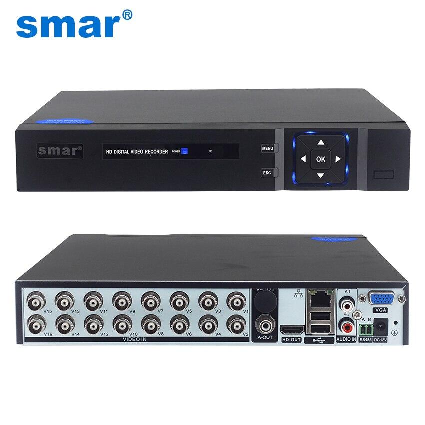Smar 5 в 1 16CH 1080N AHD DVR Hybrid видео Регистраторы Поддержка 1080 P AHD Камера 3MP 5MP IP Камера видеонаблюдения Системы Onvif