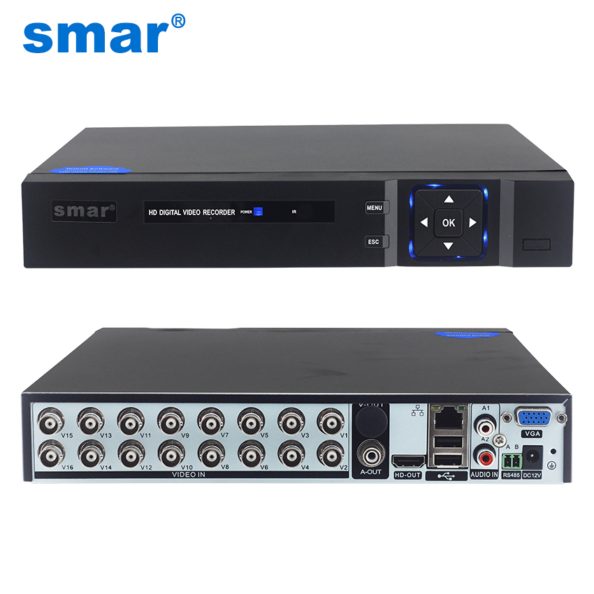 Smar 5 em 1 16CH 1080N AHD DVR Híbrido Gravador De Vídeo Suporte 1080P AHD Câmera 3MP 5MP Câmera IP onvif CCTV Sistema de Segurança Em Casa