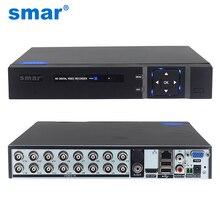Smar grabadora de vídeo híbrido 5 en 1, 16 canales, 1080N, AHD, DVR, compatible con cámara AHD de 1080P, cámara IP de 3MP y 5MP, sistema de seguridad CCTV para el hogar, Onvif