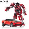 Plástico ABS + Liga Figura de Ação Brinquedos Clássico Filme de 4 Série de Transformação Robô Carro Legal Juguetes Brinquedos Do Menino Do Presente Do Partido
