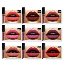 38 Colors Non Stick Cup Matte Lipstick for Women Liquid Waterproof Sexy Long Lasting Lip Gloss Cosmetics Tools