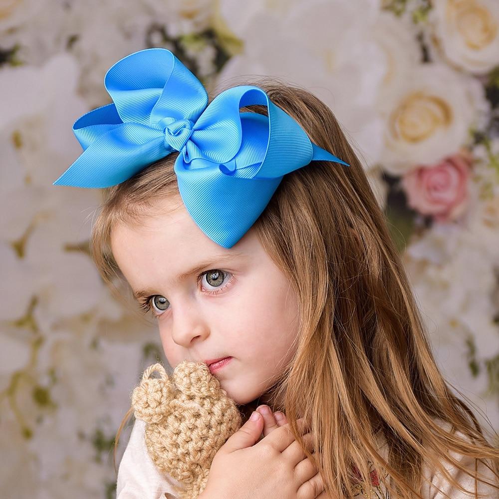 "6/"" Inch Handmade Jumbo Big Hair Bow Clip Pin Alligator Clips Accessories"