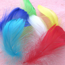 100pcs Dyeing Colorful Goose  DIY Indian Dream Catcher Brooch Earring Garment Accessories Wedding Decorations Halloween