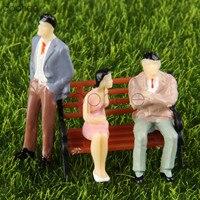 Dophee 10 шт. 1:50 многоцветный Модель людей + 10 шт. модель парк скамейка с росписью модель поезда