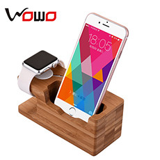 wooden phone holder station 1-3