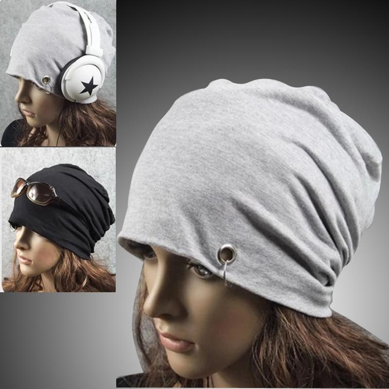 2017 Punk Women Men Winter Hat   beanies   bonnet femme Slouch Baggy Iron Hoop Ring Cap Hip Hop cloth Cap   Beanie   gorros women's hat