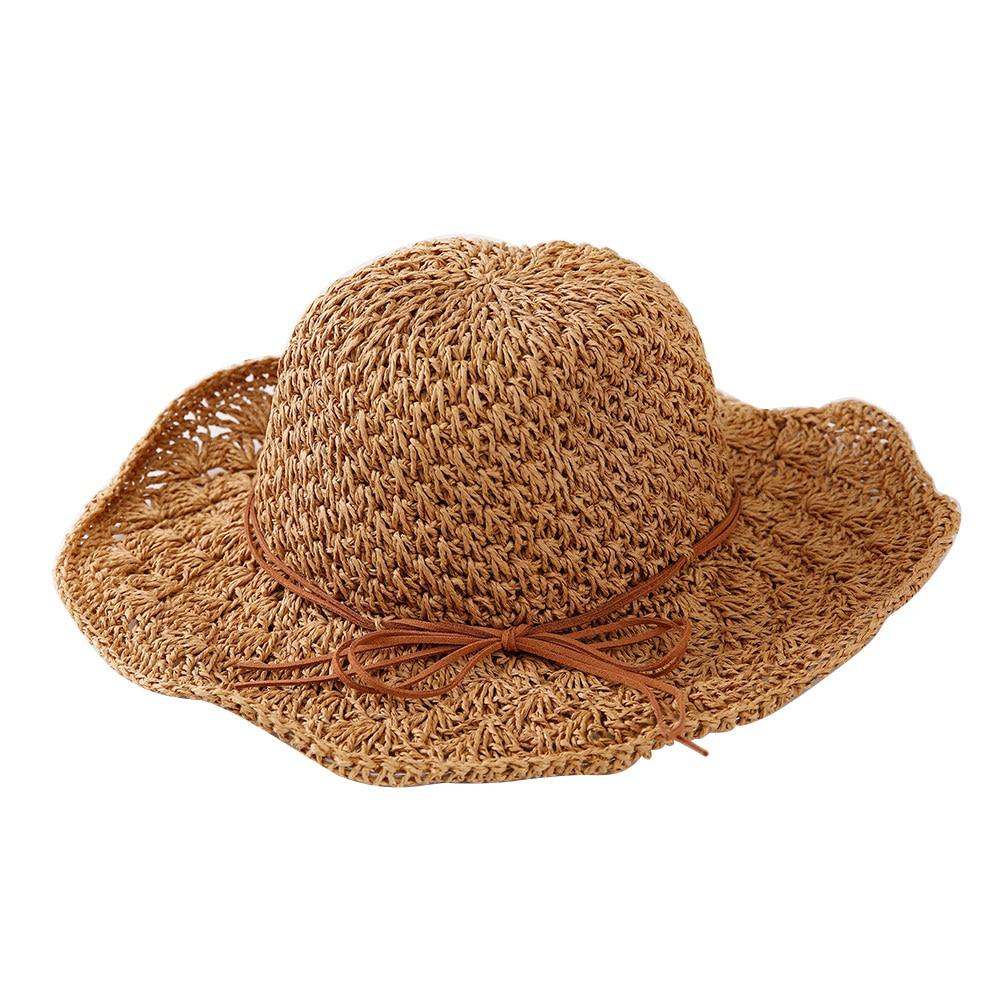 791169328d2 New Sun Visor Straw Hat Summer Simple Style Korean Ladies Sun Hat New Outdoor  Hat