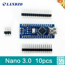 10pcs Nano 3.0 controller compatible for arduino nano ATmega328 USB driver NO CABLE nano v3.0