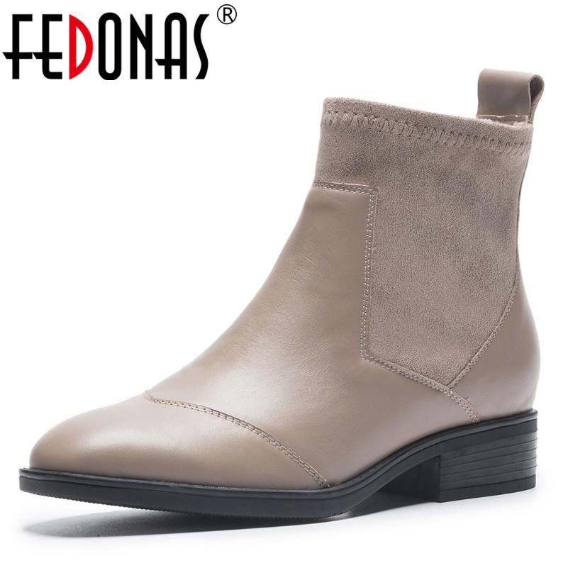 FEDONAS Retro Women Ankle Boots Autumn Winter Pointed Toe Short Martin Shoes Woman High Heels Motorcycle Boots Female New Boots цены