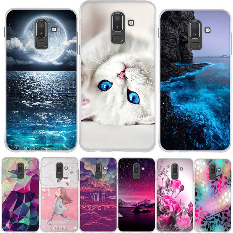 Phone Case For Samsung <font><b>Galaxy</b></font> J8 <font><b>2018</b></font> Cover Cases for Fundas Samsung J8 <font><b>2018</b></font> Case Silicone Cover For Samsung J <font><b>8</b></font> <font><b>2018</b></font> J8 J810 F image