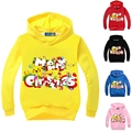 Baby Boys Girls Hoodies Pokemon Go Sweatshirts 2016 New Long Sleeve Children Shirts Kids Cartoon Tops Pink Red For 3-9 Yrs GT44