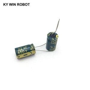 Image 3 - 10 шт., алюминиевый электролитический конденсатор, 22 мкФ, 450 в, 13*20 мм, радиальный электролитический конденсатор frekuensi tinggi