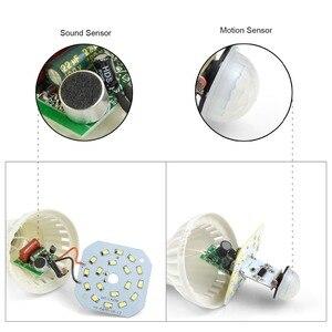 Image 3 - PIR Bewegungssensor glühbirnen E27 220 V Schallsensor led lampe 3 Watt 5 Watt 7 Watt 9 Watt 12 Watt Für Treppen Flur Balkon Nacht Notfall birne