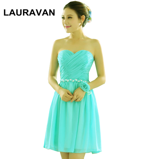 new arrival woman fashion 2020 elegant girls a-line sweetheart turquoise chiffon bridesmaid dresses green dress robe-de-soiree